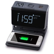 Kube Systems Wireless Charging Hub with Alarm Clock
