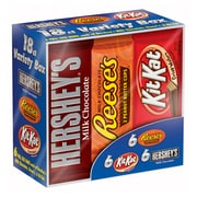Chocolate Candy Bar Variety Pack, Hershey's & Reese's & Kit-Kat, 18/Pack (246-00349)