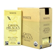 GREEN & BLACK'S Organic White Chocolate with Vanilla 30% Cacao, 3.5 oz, 10 Count (304-00101)