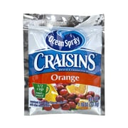 OCEAN SPRAY Craisins Orange Flavored Dried Cranberries, 1.16 oz, 200 Count