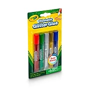 Crayola Washable Glitter Glue, Bold Blazes, 5/Per Pack, 6/Pack (69-3522)