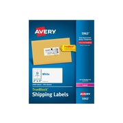 "Avery Laser Shipping Labels, 2""W x 4""L, White, 10/Sheet, 250 Sheets/Pack (5963)"