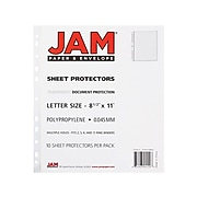"JAM PAPER Sheet Protectors, 8 1/2"" x 11"", Clear, 10/Pack (3236518865)"