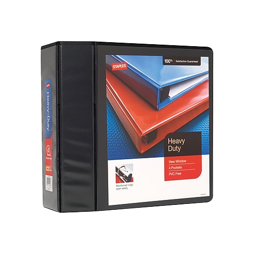 staples heavy duty 4 inch slant d 3 ring view binder staples