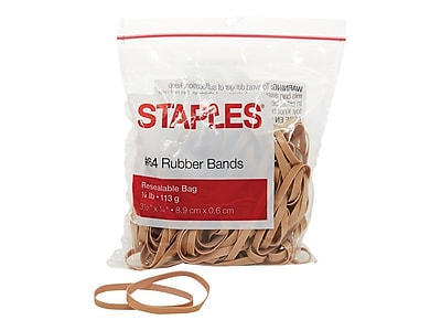 Staples® Economy Rubber Bands, Size #64, 1/4 lb.