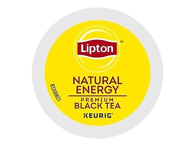 Lipton Natural Energy Premium Black Tea, Keurig® K-Cup® Pods, 24/Box (6518)