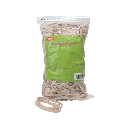 Staples Economy Rubber Bands, #64, 1 lb. Bag, 25 Bags/Carton (17785CT)