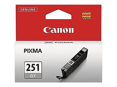 Canon CLI 251GY Gray Ink Cartridge, Standard (6517B001)