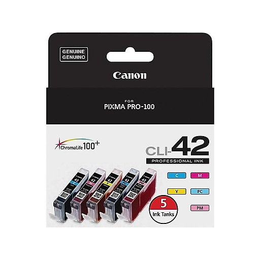 Canon CLI-42 C/M/Y/PC/PM Color Ink Cartridges (6385B010), Combo 5/Pack | Staples