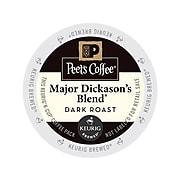 Peet's Coffee Major Dickason's Blend, Keurig K-Cup Pods, Dark Roast, 88/Carton (65470)