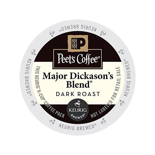 Peet's Major Dickason's Blend Coffee, Keurig K-Cup Pods, Dark Roast, 88/Carton (65470)