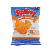 Ruffles Chips, Cheddar & Sour Cream, 1.5 Oz., 64/Carton (FRI44365)