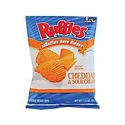 Ruffles Chips, Cheddar & Sour Cream, 1.5 Oz., 64/Carton (FRI44365)