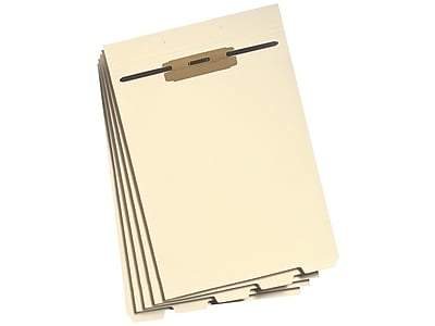 Smead Filing Dividers with Fasteners, Bottom 1/5-Cut Tab, Letter Size, Manila, 50/Pack (35600)