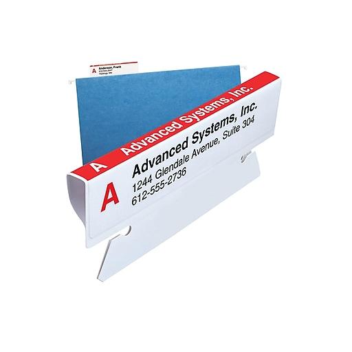 smead viewable labeling system label refill pack hanging folder