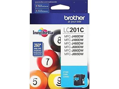 Brother LC 201C Cyan Ink Cartridge, Standard (LC201C)