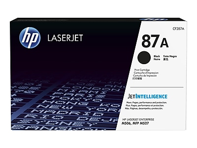 HP 87A Black Toner Cartridge, Standard (CF287A)