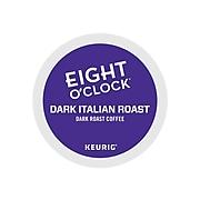 Eight O'Clock Dark Italian Roast Coffee, Keurig® K-Cup® Pods, Dark Roast, 24/Box (6408)