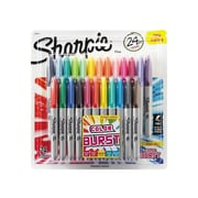 Sharpie Color Burst Limited Edition Permanent Markers, Fine Point, Assorted, 24/Pack (1949557)