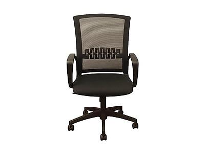 Advantage Mesh Back Fabric Computer and Desk Chair, Black (KB-8929-BLK)