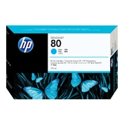 HP 80 Cyan Ink Cartridge, Standard (C4872A)