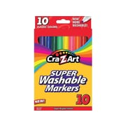 Cra-Z-Art Classic Super Washable Markers, Fine, Assorted, 10/Pack (10161-48)