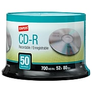 Staples 10365 52x CD-R, Silver, 50/Pack