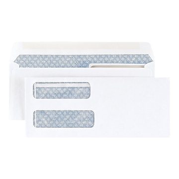 """Staples Laser Check Gummed Security Tinted #9 Business Envelopes, 3 5/8"""" x 8 7/8"""", Wove White, 500/Box (394062/19045)"""