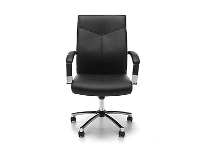 OFM Essentials SofThread Leather Conference Chair, Black (E1003)