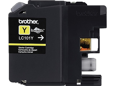 Brother LC 101Y Yellow Ink Cartridge, Standard