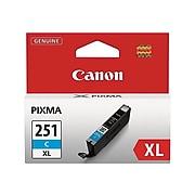 Canon CLI-251XL Cyan High Yield Ink Cartridge (6449B001)