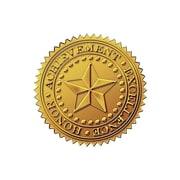 "Great Papers Star 1.75"" Seals, Gold, 96/Pack"