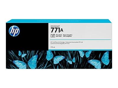HP 771A Photo Black Ink Cartridge, Standard (B6Y21A)