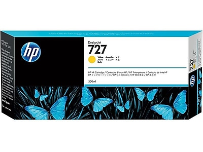 HP 727 Yellow Ink Cartridge, High Yield (F9J78A)