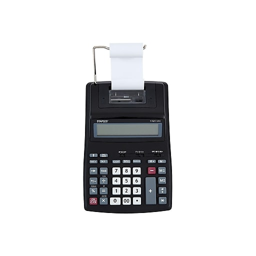 Staples SPL-500 44780 12-Digit Desktop Calculator, Black