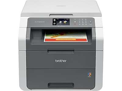 Brother HL-3180CDW USB & Wireless Color Laser Print-Scan-Copy Printer