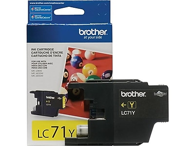 Brother LC 71Y Yellow Ink Cartridge, Standard (LC71YS)