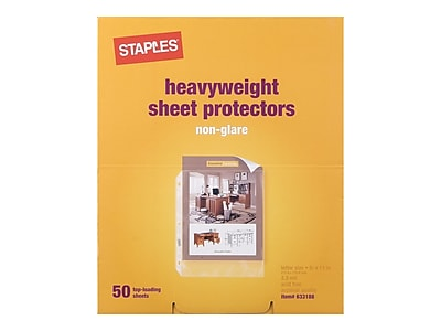 Staples Heavyweight Sheet Protectors, Clear, 50/Box (34749)