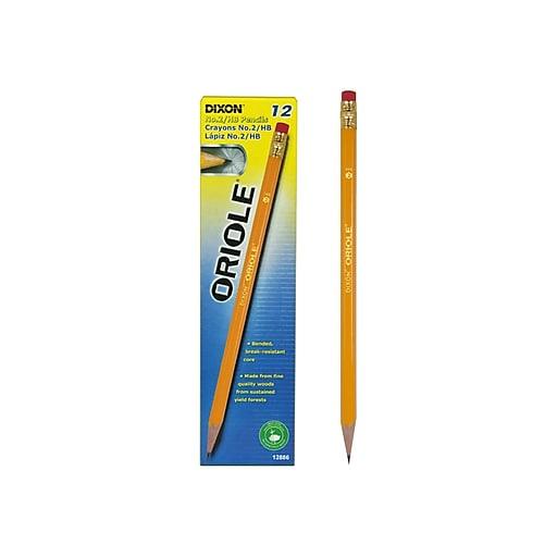 Dixon Oriole Wooden Pencils, No. 2 Soft Lead, Dozen (12886)
