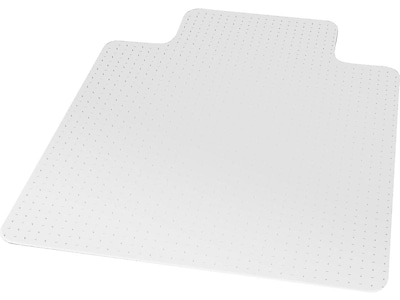 "Staples® 36"" x 48"" Low Pile Carpet Chair Mat,  Lip"