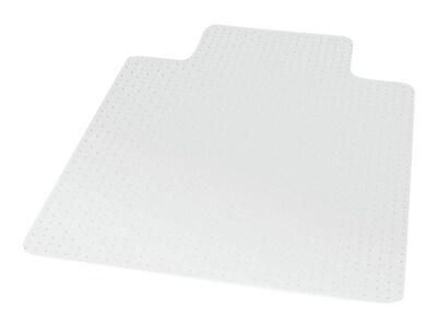 "Staples® 45"" x 53"" Flat Pile Carpet Chair Mat, Lip"
