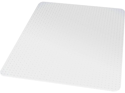 "Staples® 46"" x 60"" Flat Pile Carpet Chair Mat, Rectangular"