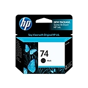 HP 74 Black Standard Yield Ink Cartridge (CB335WN#140)