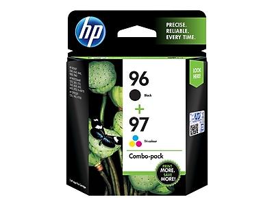 HP 96/97 Black/Color Ink Cartridges, Standard, 2/Pack (C9353FN#140)
