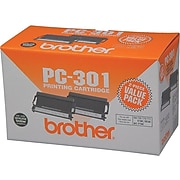 Brother PC-301 Black Standard Yield Fax Cartridge, 2/Pack (PC3012PK)