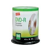 Staples 12735 16x DVD-R, Silver, 100/Pack
