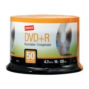 Staples 13163 16x DVD+R, Silver, 50/Pack