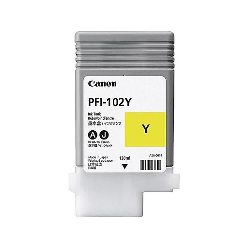 canon pfi 102y yellow ink cartridge 0898b001 staples. Black Bedroom Furniture Sets. Home Design Ideas
