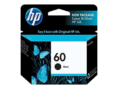 HP 60 Black Ink Cartridge, Standard (CC640WN#140)