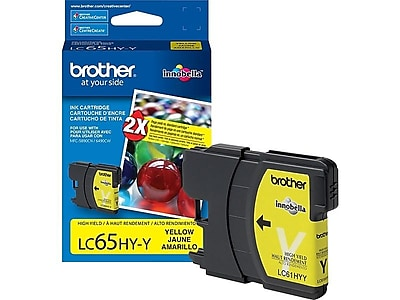 Brother LC 65HY-Y Yellow Ink Cartridge, High Yield (LC65HYYS)